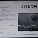 1964 Minna Citron Moon's Edge Vintage 1964 Art Exhibition Ad Advert Tasca Gallery