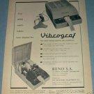 1955 Vibrograf Company Switzerland Vintage 1955 Swiss Ad Suisse Advert Horlogerie Horology