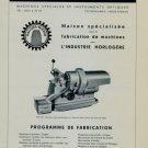 Henri Hauser S.A. Machine Company 1956 Swiss Ad Bienne Suisse Advert Horlogerie Horology