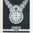 Heuer Watch Company Bienne Vintage 1956 Swiss Ad Suisse Advert Switzerland Horology