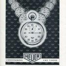Heuer Watch Company Bienne Vintage 1956 Swiss Ad Suisse Advert Switzerland Horology