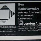 Ilya Bolotowsky Vintage 1971 Art Exhibition Ad London Arts