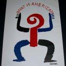 Alexander Calder What Is American Vintage 1958 Art Ad