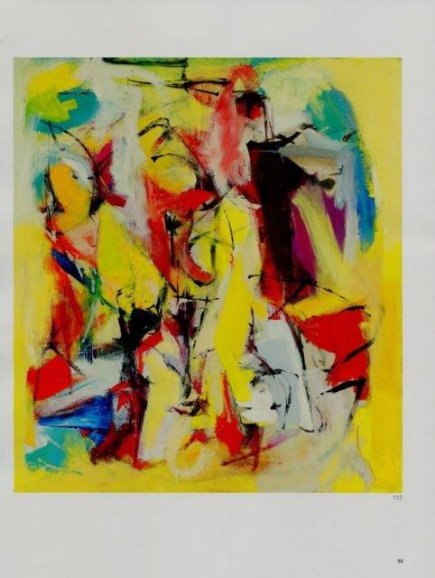 Franz Kline Yellow Abstraction Art Ad