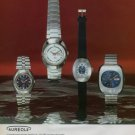 Aureole Watch Company Switzerland Vintage 1973 Swiss Ad Suisse Advert Horology