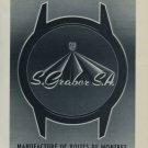 1956 S. Graber S.A. Company Renan 1956 Swiss Ad Suisse Advert Horlogerie Horology SGR