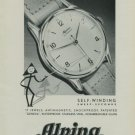 Alpina Watch Company Vintage 1949 Swiss Ad Bienne Switzerland Suisse Horlogerie