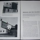 Artist Charles Sheeler and the Shakers 1965 Magazine Article by Faith and Edward D. Andrews