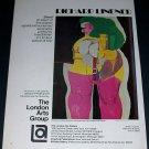 1972 Richard Lindner Shoot Vintage 1972 Art Ad Advert Advertisement
