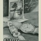 1949 Nicolet Watch Company Tramelan Switzerland Vintage 1949 Swiss Ad Suisse Advert
