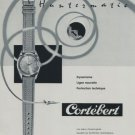 Cortebert Watch Company Vintage 1959 Swiss Ad Suisse Horlogerie Advert Horology