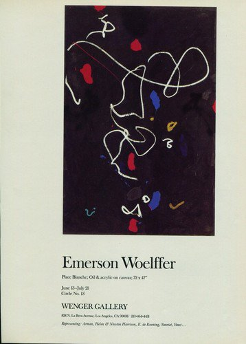Emerson Woelffer 1987 Art Exhibtion Ad Wenger Gallery, Los Angeles