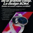 RoWi Rodi & Wienenberger AG Company Germany 1973 Swiss Ad Suisse Advert Horology Horlogerie