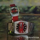 Sandoz Watch Company Switzerland Vintage 1973 Swiss Ad Suisse Advert Horlogerie
