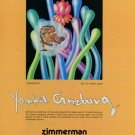 Yankel Ginzburg Continuity 1980 Art Ad Advert Advertisement