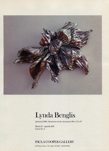 Lynda Benglis Jeantaud 1987 Art Exhibition Ad Advert Paula Cooper Gallery