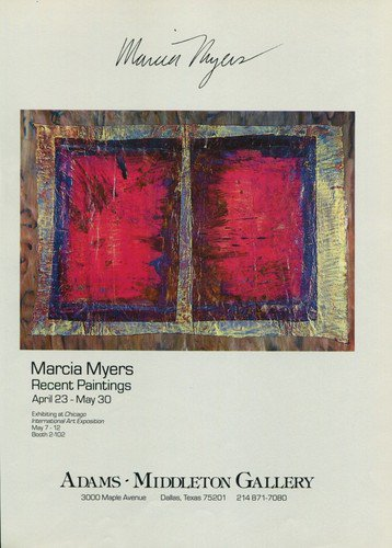 Marcia Myers 1987 Art Exhibition Ad Advert Adams-Middleton Gallery, Dallas