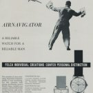 Felca Watch Company AirNavigator 1959 Swiss Ad Suisse Advert Horlogerie Horology Air Navigator