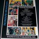 1971 Romare Bearden Vintage 1971 Art Ad Advert Advertisement