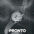 1950 Pronto Watch Company Vintage 1950 Swiss Print Ad Publicite Suisse Advert Switzerland
