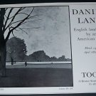 Daniel Lang Vintage 1970 Art Exhibition Ad Advert Tooth Gallery, London