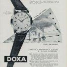 Vintage 1956 Doxa Watch Co Switzerland Swiss Print Ad Suisse Publicite Montres