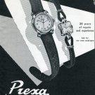 Vintage 1950 Prexa Watch Company Switzerland Original Swiss Print Ad Suisse Publicite Montres