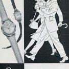Vintage 1950 Lanco Watch Co Langendorf Switzerland Swiss Print Ad Suisse Publicite Montres