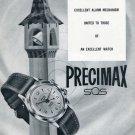 Vintage 1956 Precimax Watch Co Switzerland Swiss Print Ad Publicite Suisse Montres Schweiz Suiza