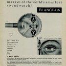Vintage 1956 Blancpain Watch Co Rayville SA Switzerland Swiss Print AdSuisse Publicite Montres