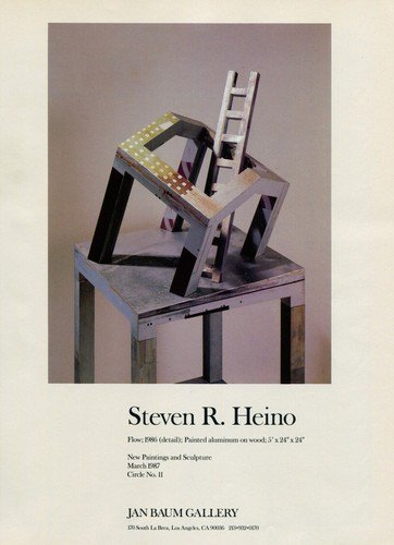 Sculptor Steven R. Heino 1987 Art Exhibition Ad Publicite Advert Jan Baum Gallery