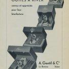 1956 A. Gentil & Co La Brevine Switzerland Swiss Print Ad Suisse Publicite Horlogerie