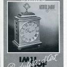 Vintage 1950 Arthur Imhof Clock Co Imhof Pendulettes d'Art Swiss Print AdSuisse Publicite