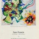 Sam Francis Evergreen Licks 1987 Art Exhibition Ad Publicite Advert Andre Emmerlich Gallery