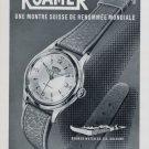 Vintage 1956 Roamer Watch Company Switzerland Swiss Print Ad Suisse Publicite Montres Schweiz
