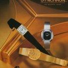 1977 Synchron SA Watch Co Aureole Borel Cyma Doxa Swiss Print Ad SuissePublicite Montres