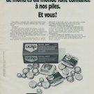 1977 UCAR Union Carbide Europe SA Swiss Print Ad Suisse Publicite Horlogerie Horology Schweiz