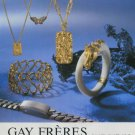 1977 Jewelers Gay Freres SA Switzerland Swiss Print Ad Suisse Publicite Schweiz Suiza