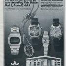 1977 Arctos Watch Company Philipp Weber KG Pforzheim Germany Swiss Print Ad Suisse Publicite Schweiz