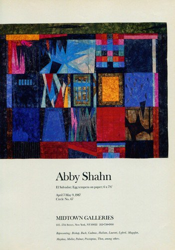Abby Shahn 1987 Art Exhibition Ad Publicite Advert Advertisement