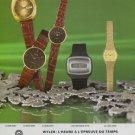 1977 Wyler Watch Company Swiss Print Ad Suisse Publicite Montres Schweiz Suiza