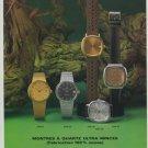1977 Rodania Watch Company Grenchen Switzerland Swiss Print Ad Suisse Publicite Montres Schweiz