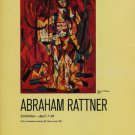 Abraham Rattner Vintage 1969 Art Exhibition Ad Publicite Advert Kennedy Galleries, NY