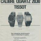 1977 Tissot Watch Company Switzerland Swiss Print Ad Suisse Publicite Montres Schweiz