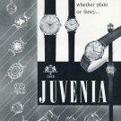 Vintage 1956 Juvenia La Chaux-de-Fonds Suisse Switzerland Swiss Print Ad Publicite Montres Schweiz