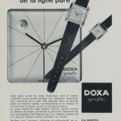 1959 Doxa Graphic Watch Advert Suisse Publicite Montres Swiss Print Ad Advertisement