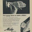 1957 Mido Powerwind Watch Advert Swiss Print Ad Publicite Suisse Montres Schweiz