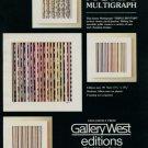 Yaacov Agam Triple Rhythm 1980 Art Ad Publicite Advert Advertisement