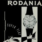 1956 Rodania Watch Company Switzerland Swiss Print Ad Suisse Publicite Montres 1950s