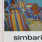 Nicola Simbari 1969 Art Exhibition Ad Publicite Advert Wally F Galleries, NY